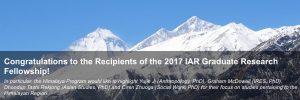 The 2017 IAR Graduate Research Fellowship