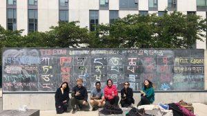 Tibetan Language Students Practice Script Writing