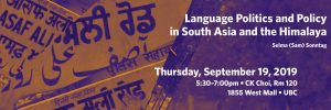Selma (Sam) Sonntag: Language Politics and Policy in South Asia and the Himalaya